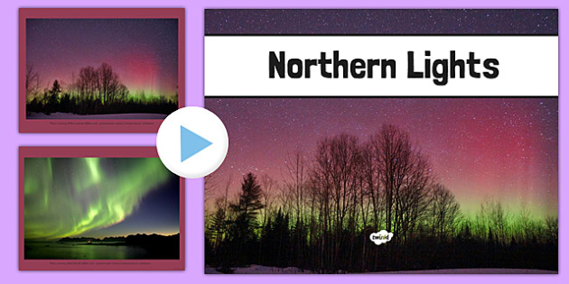 Northern Lights Photo PowerPoint - northern lights, photo, powerpoint, aurora borealis