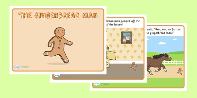 The Gingerbread Man Story - Gingerbread man, traditional tales, tale, fairy tale, gingerbread, little old man, little old woman, fox, run run