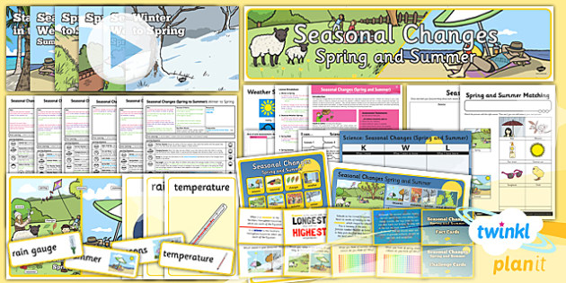 Science: Seasonal Changes (Spring and Summer) Year 1 Unit Pack
