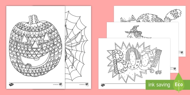 Halloween Themed Mindfulness Colouring Sheets Colouring Pages