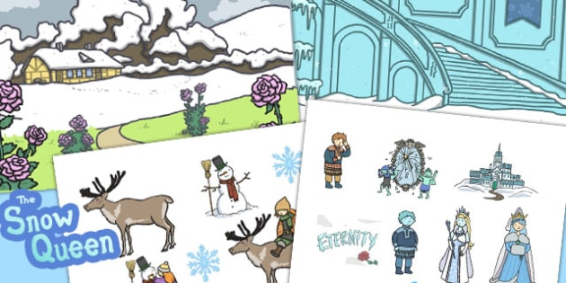 The Snow Queen Story Cut Outs - activity, activities, motor