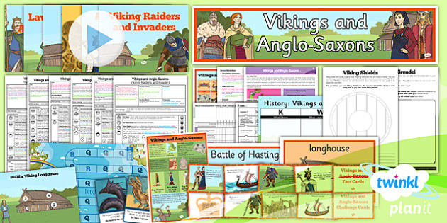History: Vikings and Anglo-Saxons LKS2 Unit Pack