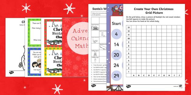 Top Ten LKS2 Christmas Maths Activity Sheet Pack