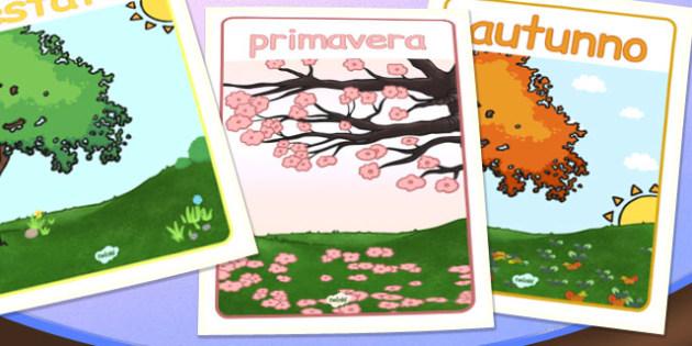 Italian Season Posters - italian, season display, posters, poster