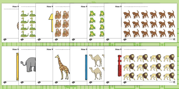 How Many Can We Fit in The Box? Game to Support Teaching on Dear Zoo - dear zoo, how many in the box, counting, counting games, counting activities, numbers, math