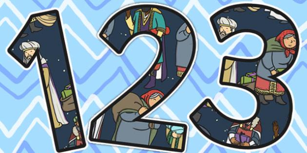 Babushka Themed Display Numbers - babushka, display, numbers