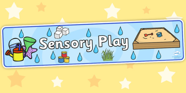 Sensory Play Display Banner - sensory play, display banner, banner, display, banner for display, display header, header for display, header, sensory