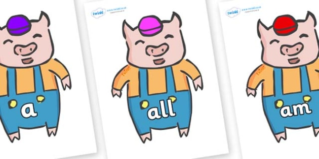 Foundation Stage 2 Keywords on Little Pig - FS2, CLL, keywords, Communication language and literacy,  Display, Key words, high frequency words, foundation stage literacy, DfES Letters and Sounds, Letters and Sounds, spelling