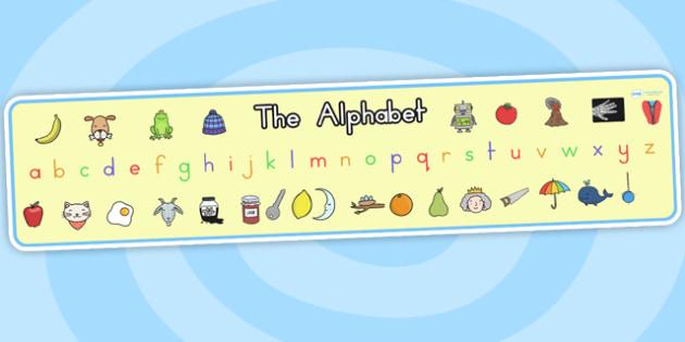 Alphabet Display Banner - alphabet, a-z, display banner, banner