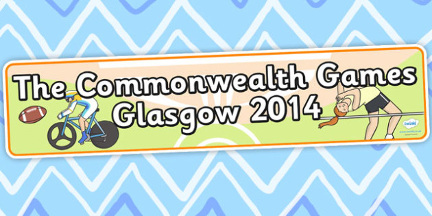 The Commonwealth Games Glasgow 2014 Display Banner - sports