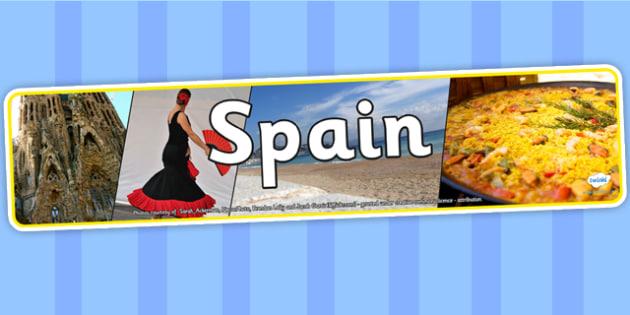 Spain Photo Display Banner - spain, photo display banner, display banner, display, banner, photo banner, header, display header, photo header, photo