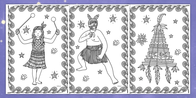 Matariki Mindfulness Colouring Pages