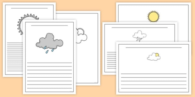 Weather Activity Writing Frame - weather, writing frame, writing