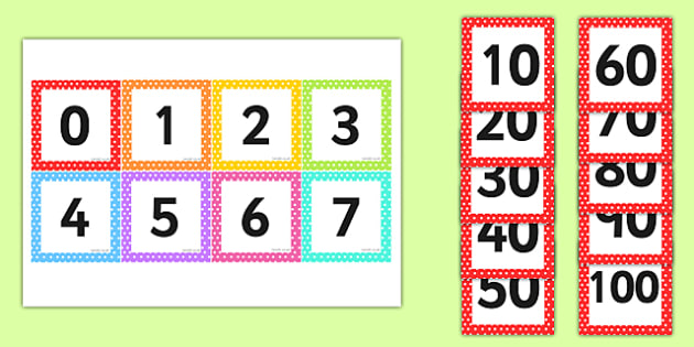 Square Number Cards 0-100 - square, number, cards, 0-100, 100
