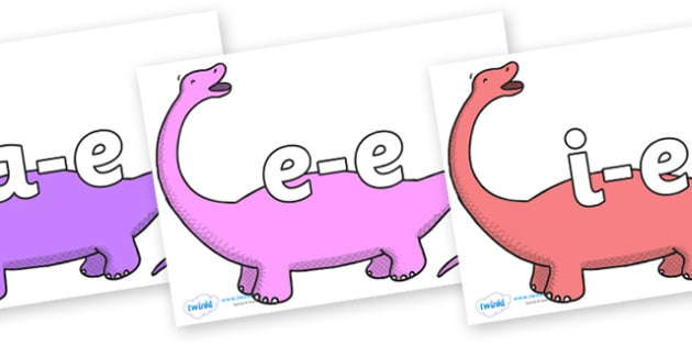 Modifying E Letters on Apatosaurus to Support Teaching on Harry and the Bucketful of Dinosaurs - Modifying E, letters, modify, Phase 5, Phase five, alternative spellings for phonemes, DfES letters and Sounds