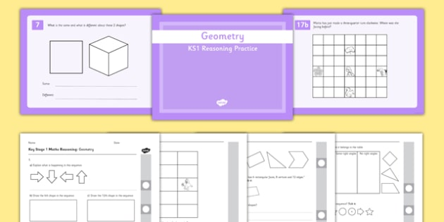 KS1 Reasoning Practice Geometry - reasoning, problem solving, fluency, assessment