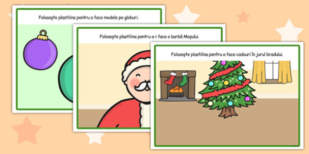 Sărbătoarea Crăciunului - Planșetă pentru modelajul cu plastilină