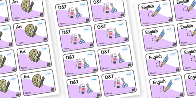 Magical Themed Editable Book Labels - Themed Book label, label, subject labels, exercise book, workbook labels, textbook labels