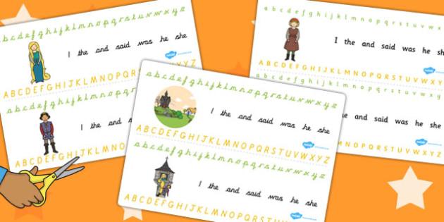 Rapunzel Alphabet Strips - alphabet strips, rapunzel, letters