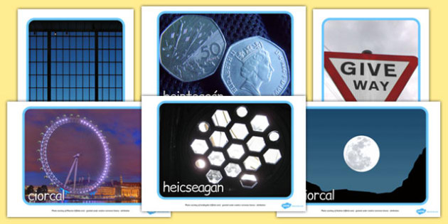 2D Shape Display Photos Gaeilge - gaeilge, 2d shape, display photos, display, photos, 2d, shape