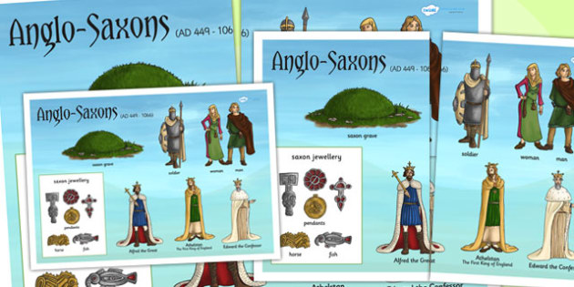 Anglo Saxons Large Display Poster - anglo saxons, poster, history