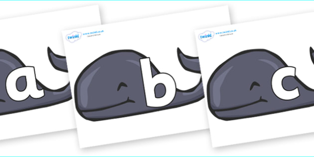 Phoneme Set on Whales - Phoneme set, phonemes, phoneme, Letters and Sounds, DfES, display, Phase 1, Phase 2, Phase 3, Phase 5, Foundation, Literacy