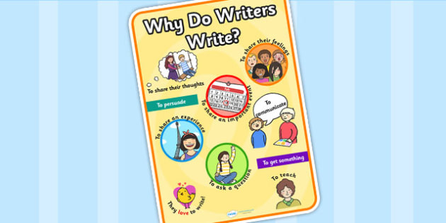Why Writers Write Display A4 Poster - why writers write, writing, display poster, poster for display, A4 posters, A4, english, literacy, posters, display