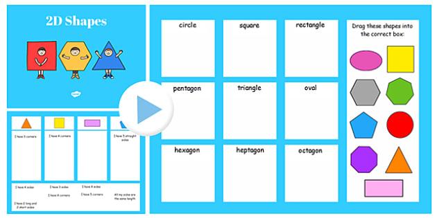 Properties of 2D Shapes Sorting Activity Flipchart - 2d, shapes