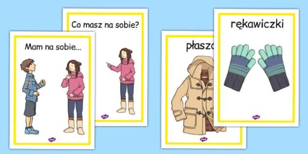 Materiały na gazetkę Ubrania po polsku - odzież, ubiór