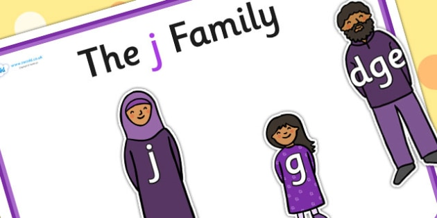 J Sound Family Cut Outs - sound families, sounds, cutouts, cut