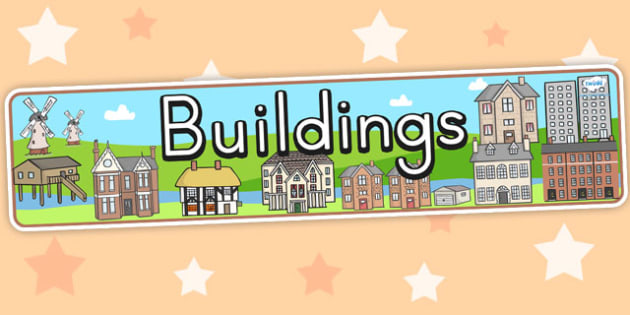 Building Display Banner - building, towns, cities, homes, display