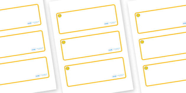 Welcome to our class- Smiley Face Themed Editable Drawer-Peg-Name Labels (Blank) - Themed Classroom Label Templates, Resource Labels, Name Labels, Editable Labels, Drawer Labels, Coat Peg Labels, Peg Label, KS1 Labels, Foundation Labels, Foundation S