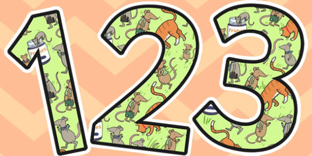 The Town Mouse and the Country Mouse Themed A4 Display Numbers