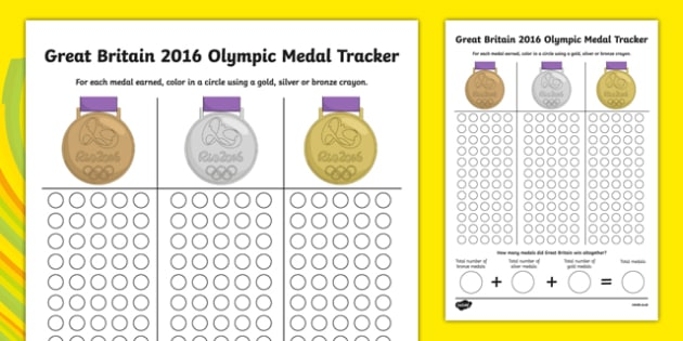 Great Britain Olympic Medal Count and Add Activity Sheet - great britain, olympic medal, count, add, activity, worksheet