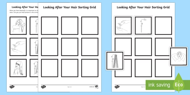 Looking After Your Hair Treating Dandruff Sequencing Activity Sheet - Special Educational Needs, Life Skills, Health and Hygiene, Key Stage 3, Key Stage 4, Hair Care