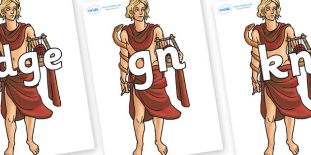 Silent Letters on Apollo - Silent Letters, silent letter, letter blend, consonant, consonants, digraph, trigraph, A-Z letters, literacy, alphabet, letters, alternative sounds