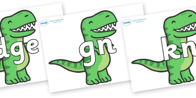 Silent Letters on T Rex Dinosaurs - Silent Letters, silent letter, letter blend, consonant, consonants, digraph, trigraph, A-Z letters, literacy, alphabet, letters, alternative sounds