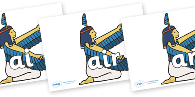 Phase 3 Phonemes on Egyptian - Phonemes, phoneme, Phase 3, Phase three, Foundation, Literacy, Letters and Sounds, DfES, display