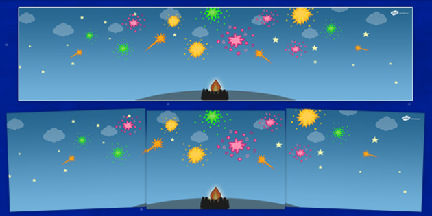 Bonfire Night Small World Background - roleplay, display, props
