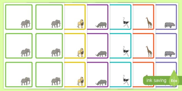 Safari-Themed Square Peg Labels