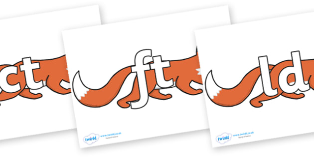 Final Letter Blends on Hullabaloo Fox to Support Teaching on Farmyard Hullabaloo - Final Letters, final letter, letter blend, letter blends, consonant, consonants, digraph, trigraph, literacy, alphabet, letters, foundation stage literacy