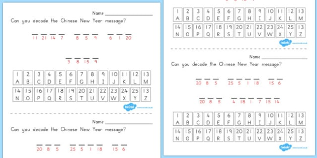 Chinese New Year Cryptograms - australia, cryptograms, chinese