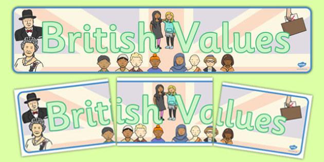 British Values Display Banner - british, values, display, banner