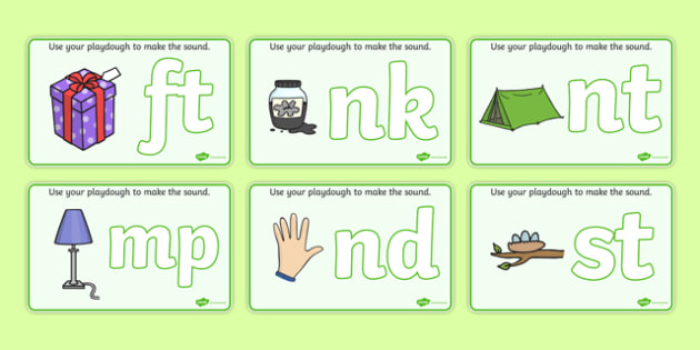 Blends & Clusters Playdough Mats - Playdough mat, playdough resources, phase 4, phase four, DfES, letters and sounds, literacy, alphabet, letters, playdough
