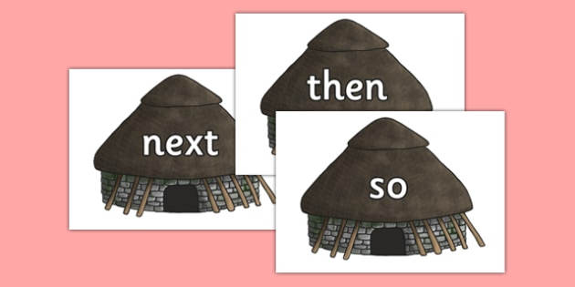 Conjunctions on Stone Age Huts - conjunctions, connectives