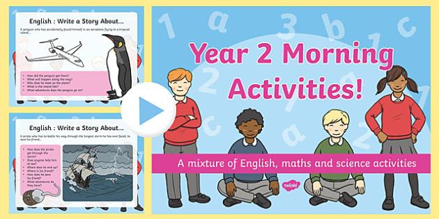 Year 2 Morning Activities PowerPoint
