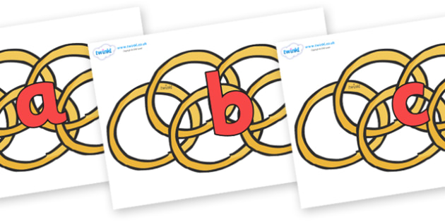 Phoneme Set on Five Gold Rings - Phoneme set, phonemes, phoneme, Letters and Sounds, DfES, display, Phase 1, Phase 2, Phase 3, Phase 5, Foundation, Literacy