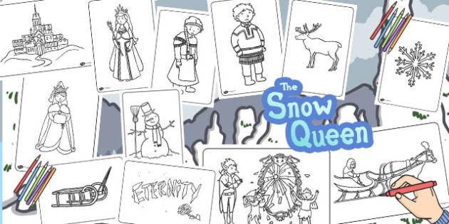 The Snow Queen Colouring Sheets - Snow, Queen, Colouring sheet
