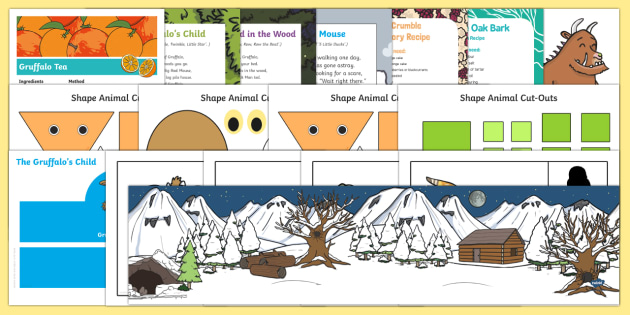 Childminder EYFS Resource Pack to Support Teaching on The Gruffalo's Child - The Gruffalo's Child, Julia Donaldson, winter, snow, child minder childminding, Gruffalo