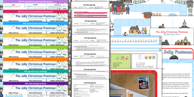 EYFS Lesson Plan Enhancement Ideas and Resources Pack to Support Teaching on The Jolly Christmas Postman - planning, Early Years, continuous provision, early years planning, Christmas, story, The Jolly Christmas Postman, Janet and Allan Ahlberg